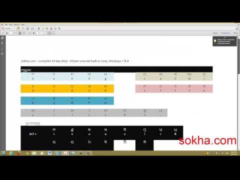 Type Khmer unicode in Windows Vista, 7, 8, 8 1, 10