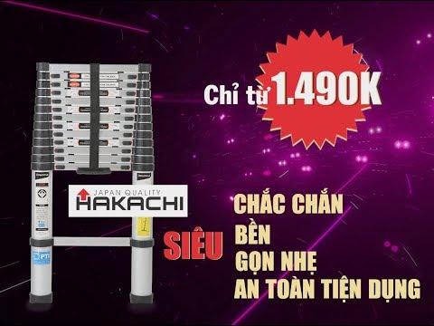 Thang nhôm rút Hakachi giảm mạnh | giá chỉ từ 1.490k | Thang nhôm Nhật Bản
