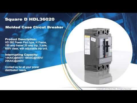 Square D HDL36020 Molded Case Circuit Breaker