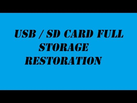 Repair Broken or Corrupted SD Card / Usb Flash Drive