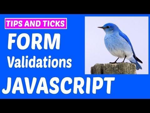 A Simple Javascript form Validations Full Tutorial  - JavaScript Series#12