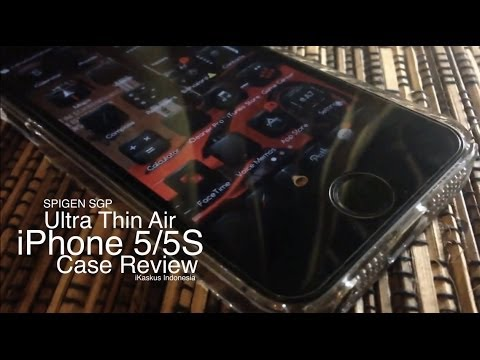 SPIGEN SGP Ultra Thin Air iPhone 5/5S Case Review - Indonesia