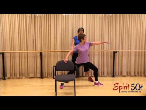Easy hip stretch (warrier two)