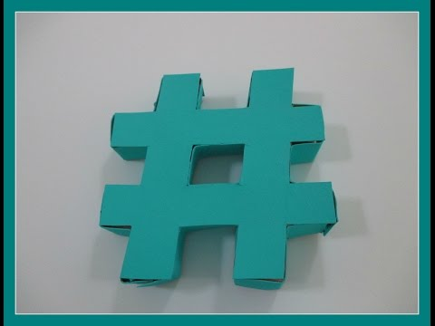 DIY Hashtag Decor