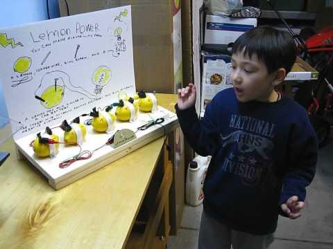 The Lemon Battery, Electricity from a Lemon - Joey's Lemon Battery