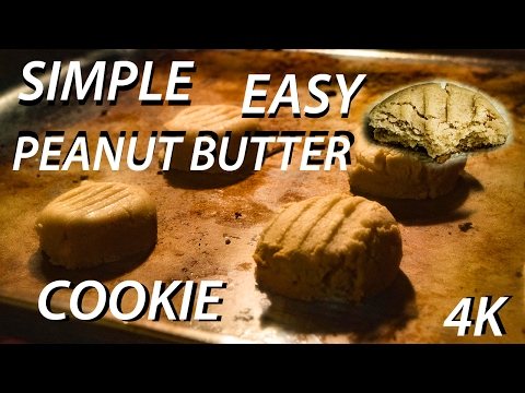 Simple & Easy No Butter Peanut Butter Cookie Recipe in 4K