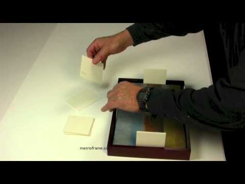 How to attach paintings to wood floater frames