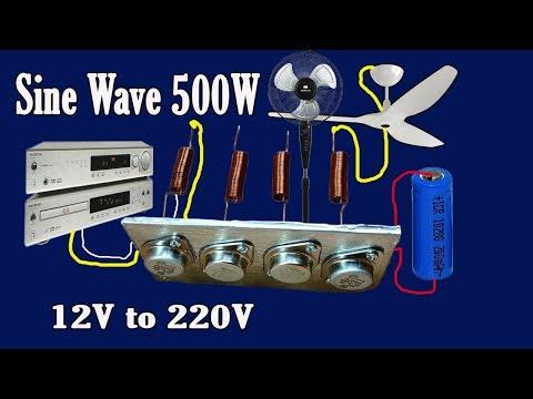 How to make Sine Wave Inverter 12V to 220V 500W (Part 3)
