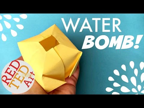 Easy Origami Water Bomb DIY (aka Paper Balloon) - Fun Origami for Summer