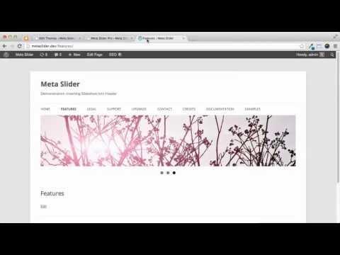 WordPress Tutorial - Insert Slideshow into Header