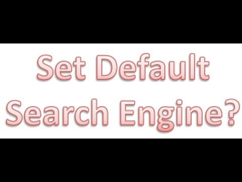 How to change default search engine of Google chrome browser