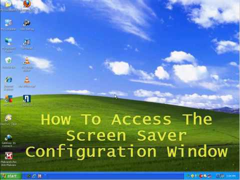 Configuring A Screensaver in Windows XP and Windows 7.