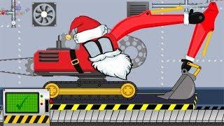 Excavator Santa Claus | Toy Factory | Video For Kids | Koparka Święty Mikołaj Dla Dzieci