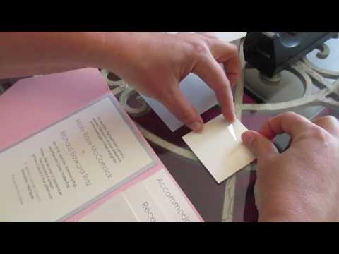Assembling a Multilayer Pocket Wedding Invitation with Glitter Belly Band