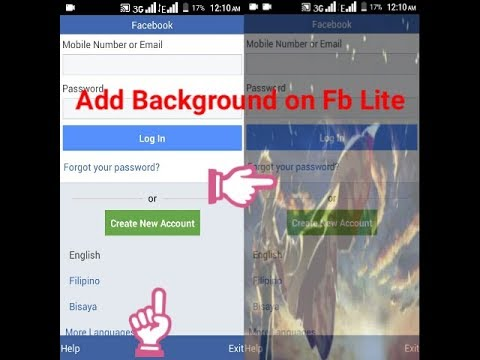 How to mod fb lite background