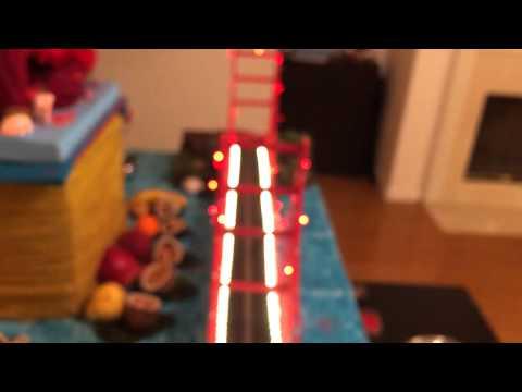 Ganapati 2014( miniature model of Golden Gate Bridge , San