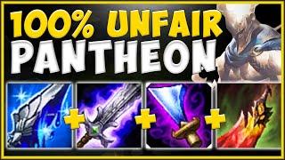 THE ULTIMATE SNOWBALL BUILD! MANA TECH PANTHEON IS 100% UNFAIR! PANTHEON S10 TOP! League of Legends