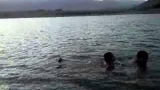 afghan boy swimming