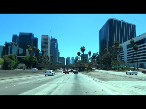 CA-170 & US-101 South: Hollywood Freeway, into Downtown Los Angeles