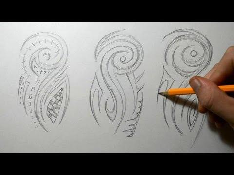Tribal Half Sleeve Sketching - Tattoo Designs Ideas
