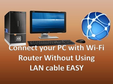 How to Connect your PC with WiFi Router Without Using Lan cable (Quick & Simple)