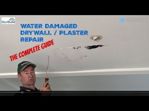 How To Repair a Water Damaged Plasterboard / Drywall Ceiling