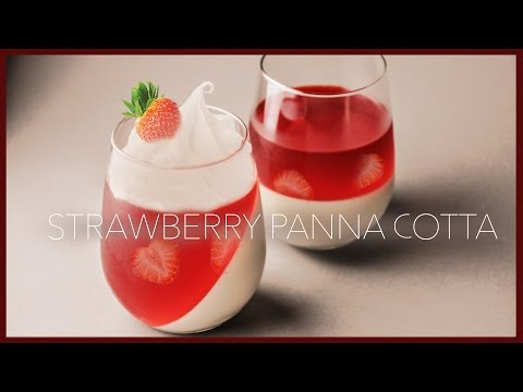 How to make Strawberry Panna Cotta | Easy Strawberry Panna Cotta | Panna Cotta Recipe