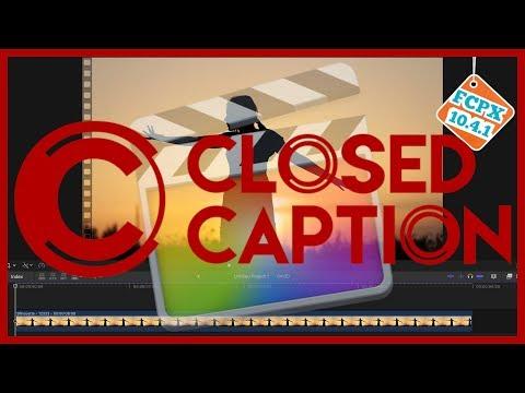 Add Captions in FCPX - Final Cut Pro 10.4.1 Tutorial