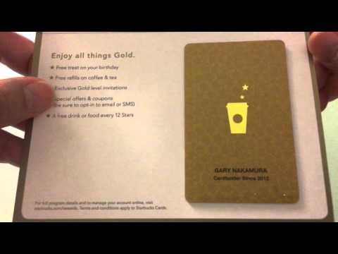 Opening My Starbucks Gold Card!