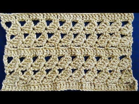 Lazy Shells Crochet Stitch - Right Handed Crochet Tutorial