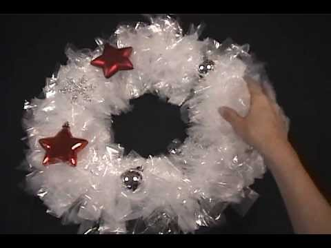 DIY Christmas wreath tutorial | Make it with sandwich bags for $3