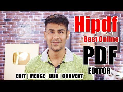 Best Online PDF Website: Hipdf | Edit, Merge, OCR, Convert Freely