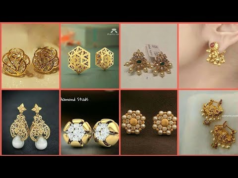 Latest Light Weight Pearl Gold Earring Designs - She Fashion
