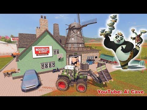 How to Make Noodles for Kung Fu Panda Po - Farming Simulator 2017 Noodle Factory Mod