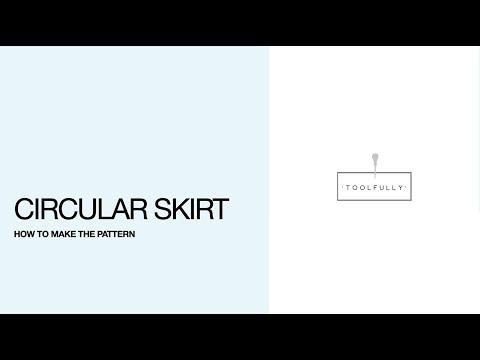 Circular skirt pattern.