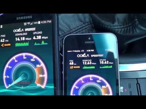 T-MobileTest Drive vs Verizon Unboxing & Speed Tests DC Metro Area