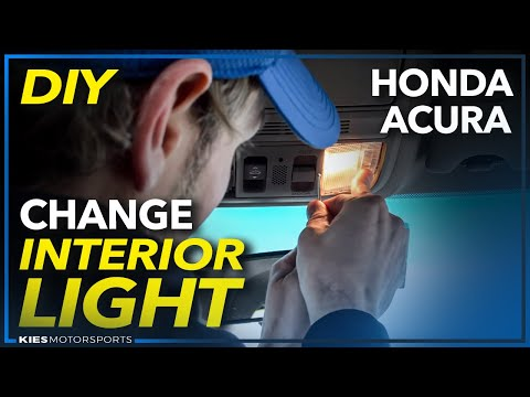 How to Change Interior Light Bulbs  on a Honda Accord, Honda Civic, Acura, et