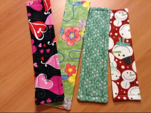 Fabric Bookmark - How to sew a simple fabric bookmark