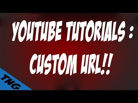 How To Get a Custom URL For Your Youtube Channel / How To make your channel look professional