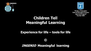 Children tell about meaningful learning