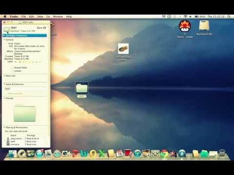 How To Change Mac OSX Lion Folder Icon (WORK100%) (NoSoftware)