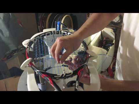 Stringing a Tecnifibre TFight 315 Ltd. 16x19 Tennis Racquet