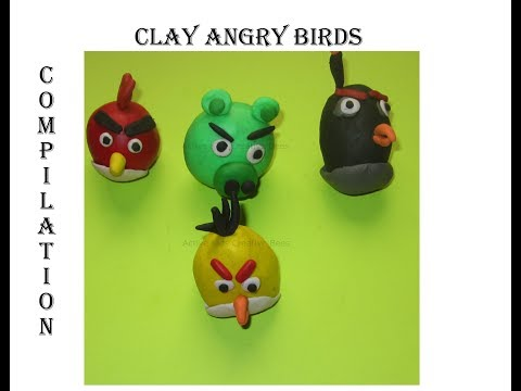 DIY Clay Angry Birds Compilation | How to make Clay Angry Birds | Clay art for Kids