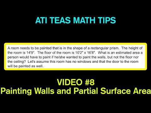 TEAS Math Tips - Video #8: Painting Walls and Partial Surface Area