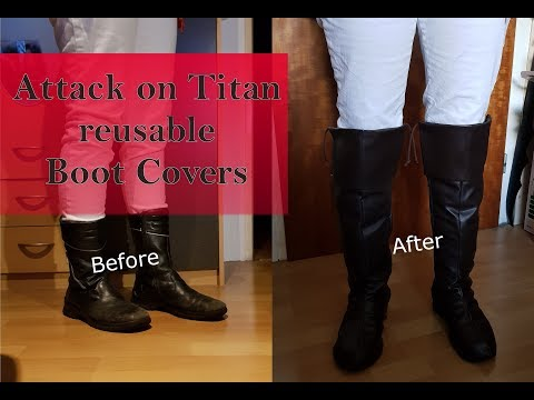 Tutorial - Attack on Titan reusable Boot Covers