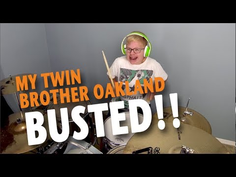 My Twin Brother Caught Playing My Drums