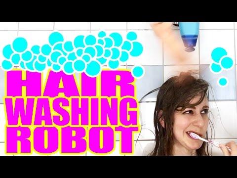 I built a hair washing robot