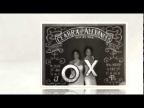 Orlando Photo booth Rental - Chalkboard Photo booth for Weddings and Events