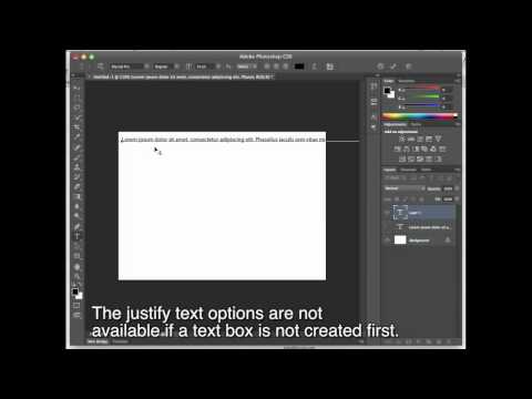 Photoshop Justify Text Tutorial