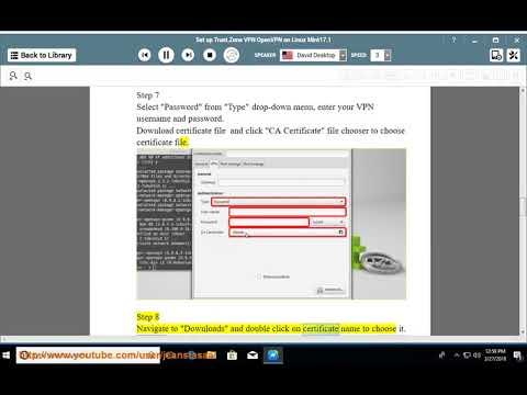 Set up Trust.Zone OpenVPN on Linux Mint 17.1